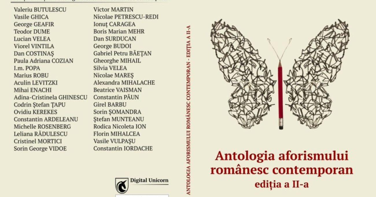Antologia aforismului romanesc contemporan - coperta 1300x950