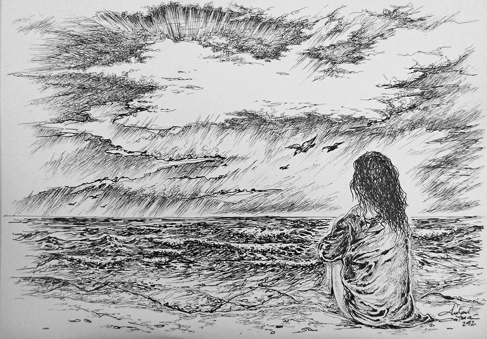 Grafică realizată de artistul Mihai Cătrună