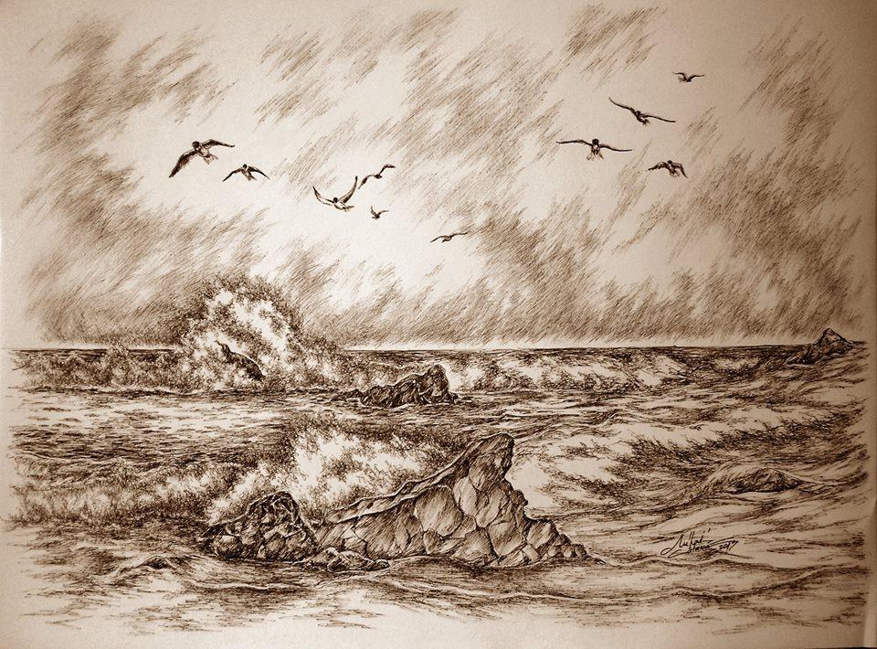 Grafică realizată de artistul Mihai Catruna
