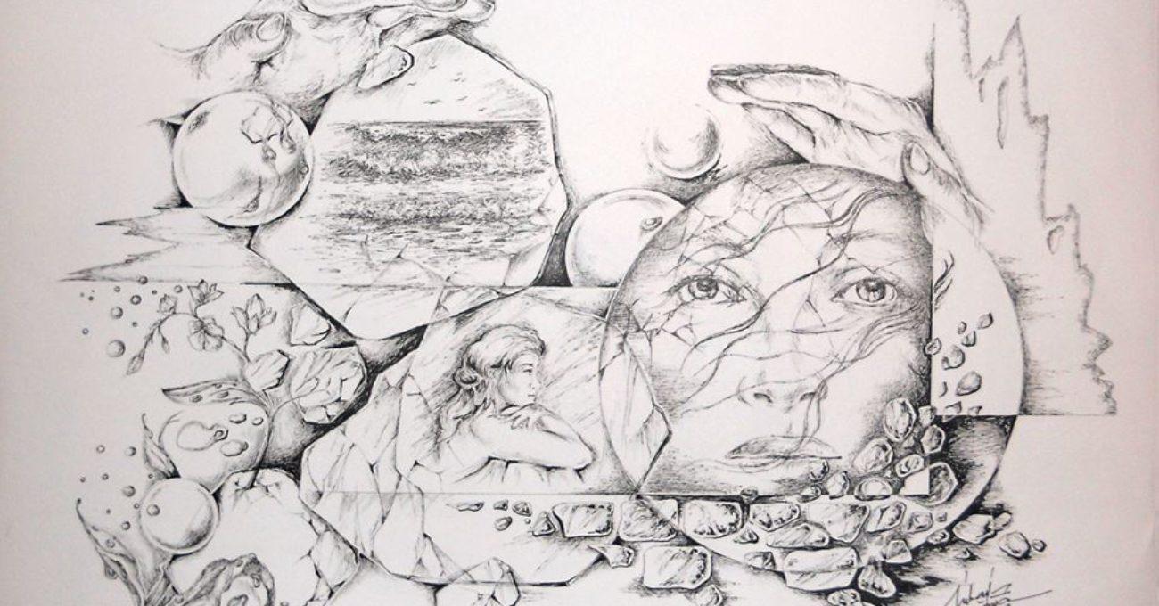 Desen grafic realizat de Mihai Catruna