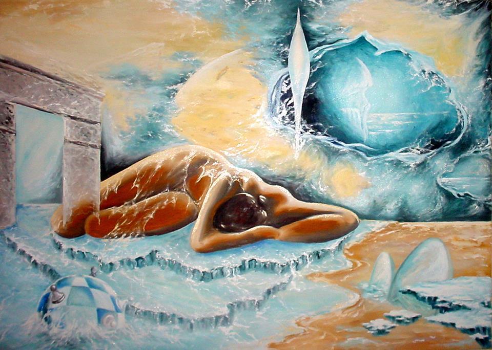 Tablou realizat de artistul Mihai Catruna